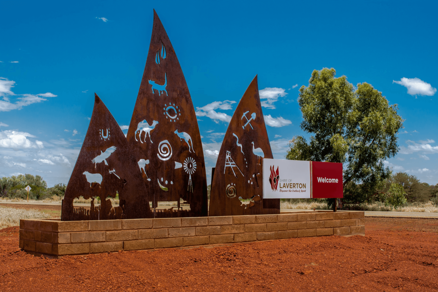 Shire of Laverton sign